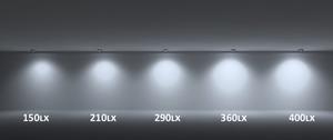 Corp de iluminat încastrat Vario Lumen IP44 alb, configurabil Nou small 1