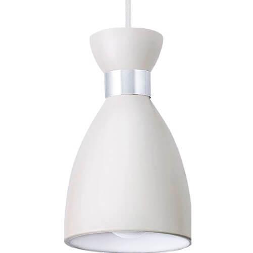 Lampă cu pandantiv din metal alb Charlotte