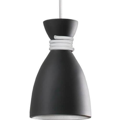 Lampă cu pandantiv Noreen alb-negru