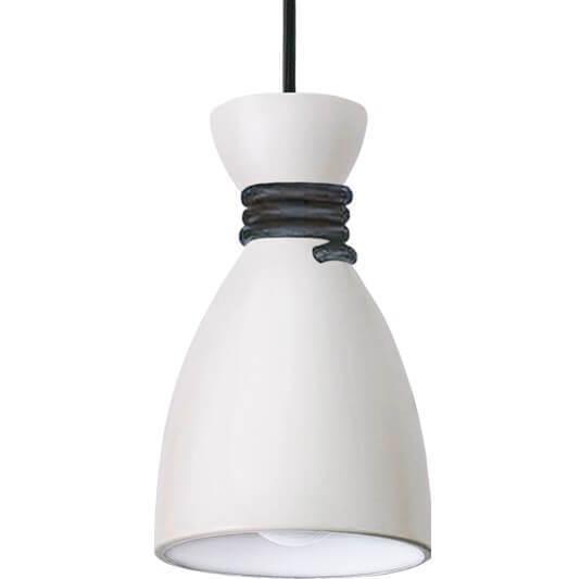 Lampă cu pandantiv alb și negru Tessa