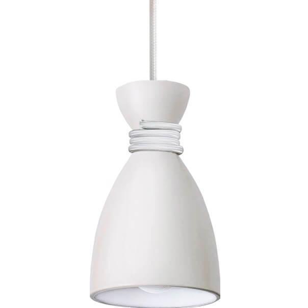 Lampă cu pandantiv din metal alb Vivian