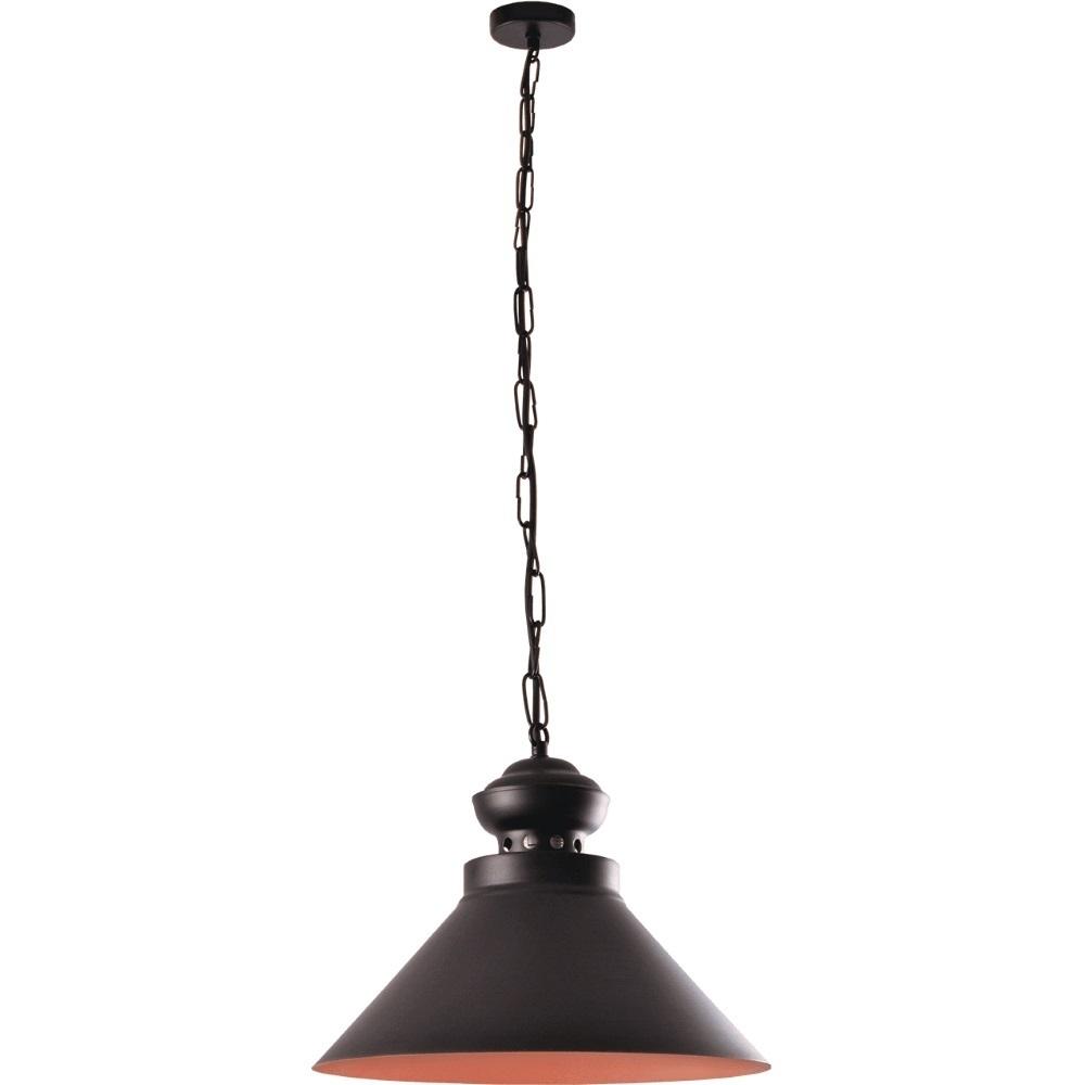 Lampa suspendată negru și maro Maisie