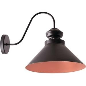 Negru cu lampă de perete Frank bronz small 1
