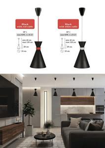 Lampă cu pandantiv din metal negru small 1