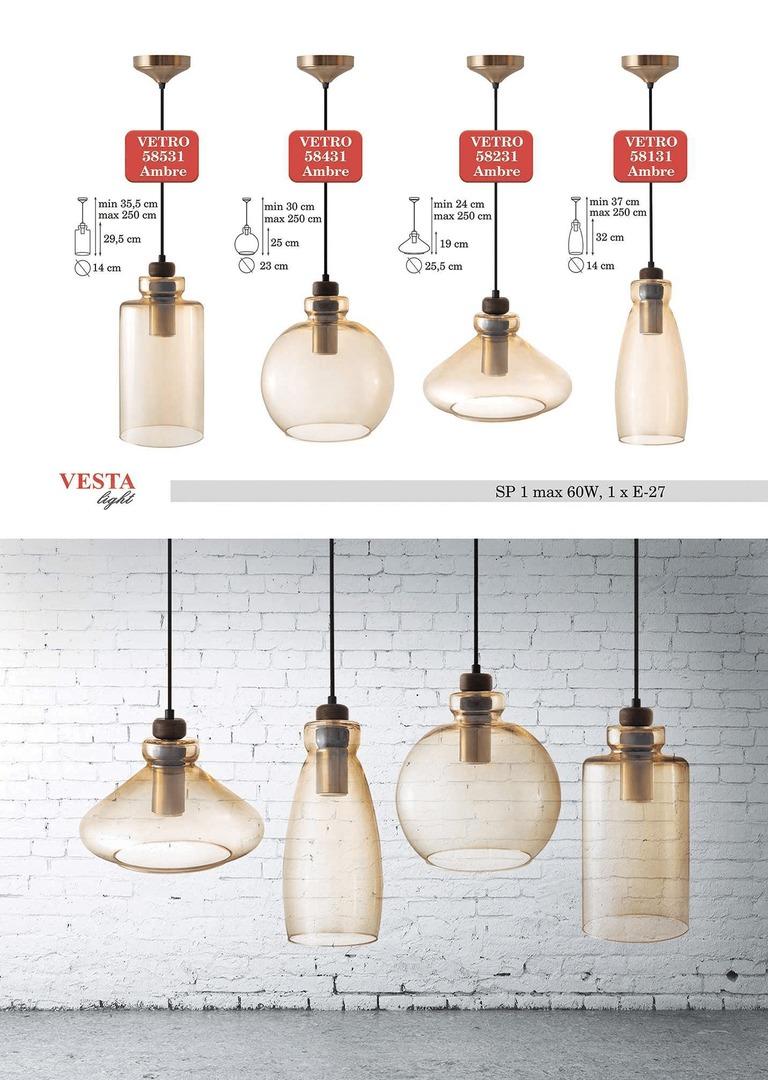 Ambre Lampă cu pandantiv Grace Glass