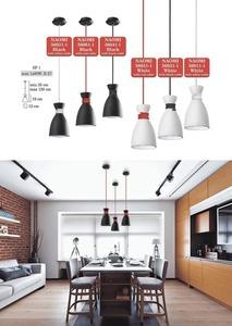 Lampa suspendată albă Cablu Naomi roșu small 2
