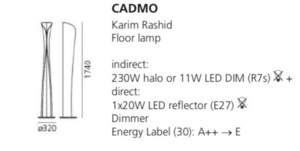 Lampa de podea Artemide Cadmo Terra alb small 1