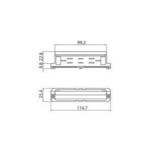Conector mecanic de legătură retractabil 9003 / WM STUCCHI alb, negru, gri small 1