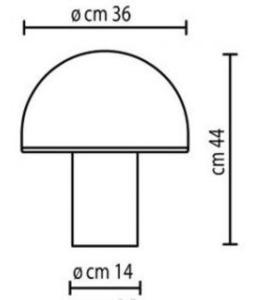 Lampa de masă albă Onfale Grande Artemide small 1