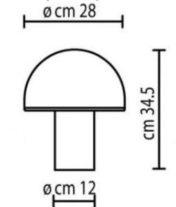 Lampa de masă albă Onfale Medio Artemide small 1
