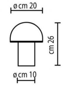 Onfale Piccolo Artemide lampă de masă albă small 1