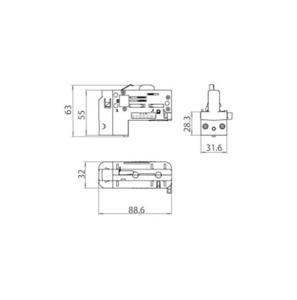 Adaptor asimetric cu 6 pini, 3 faze, cu SELECTOR DE FASE STUCCHI small 1