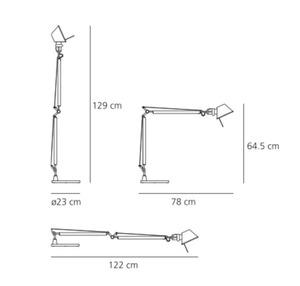 Lampa de masă Artemide Tolomeo Aluminium (halogen) small 2