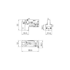 Adaptor asimetric cu 4 pini (3 FASE + N) cu selector de fază STUCCHI negru, gri, alb small 1