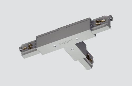 Conector exterior DREPT - tip T, STUCCHI, alb negru, gri