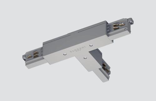 Conector extern stânga - tip T, STUCCHI, alb, gri, negru