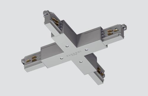 Conector - tip X, STUCCHI, alb, gri, negru