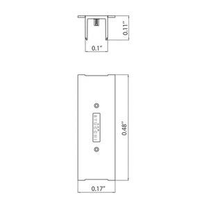 Conector pentru șină de acoperire pentru barele mortice STUCCHI, alb, gri, negru small 1