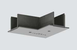 Capacul conectorului șinei de tip L pentru șină încastrată neagră ONETRACK Stucchi small 0