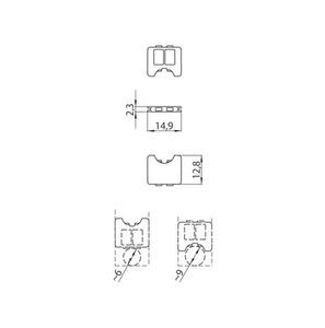 Blocarea cablului pentru adaptorul 9009, barele STUCCHI, negru, alb, gri small 1