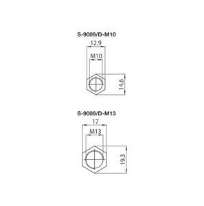 Capac pentru barele S-9009 / M13, STUCCHI small 1