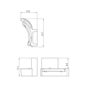Adaptor pentru carter 9209 IP40, barele STUCCHI, alb, gri, negru small 1