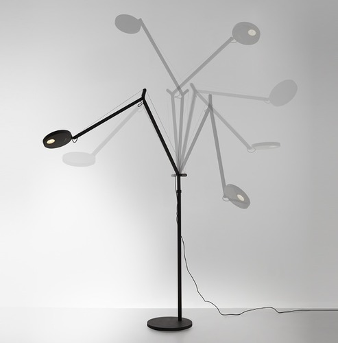 Lampa de podea pentru citirea Artemide DEMETRA Antracyt 3000K / 2700K