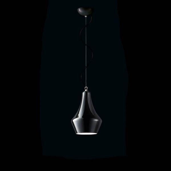 MuranoDue Alma S30 lampă cu pandantiv, negru
