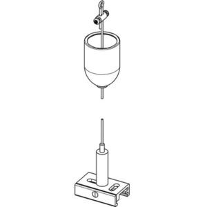 Set de suspensie BASIC cu mâner, lungime 1500 mm, STUCCHI, alb, negru, gri small 1