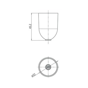 Capac de fixare prin cablu cu diam. 1,5 mm, STUCCH, alb, negru, gri small 1