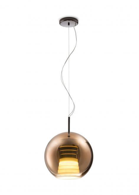 Lampa suspendată FABBIAN Beluga ROYAL Maron D57A5341 (MEDIE - 30cm)