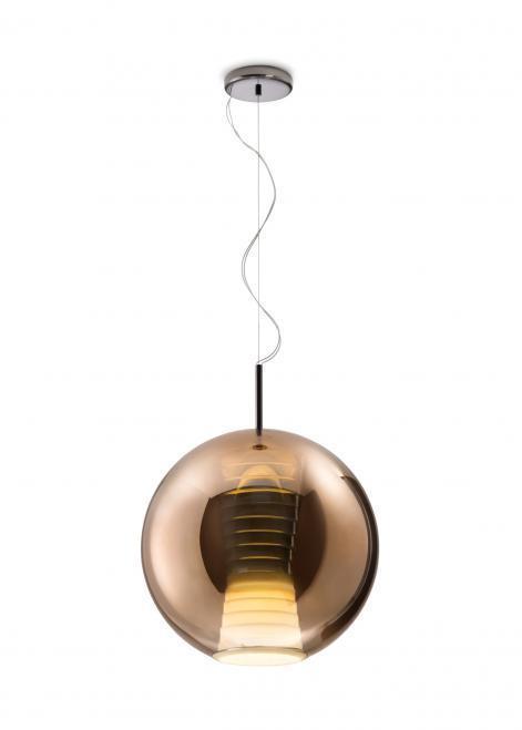 Lampa suspendată FABBIAN Beluga ROYAL BROWN D57A5541 (LARGE - 40cm)