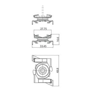 Suport de montare pe șină rapidă, STUCCHI, alb, negru small 1
