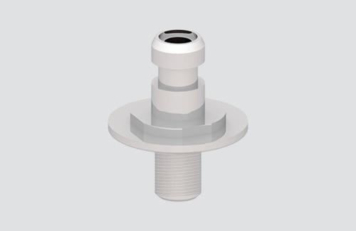 Conector pentru lampa cu adaptor, bare STUCCHI, aluminiu