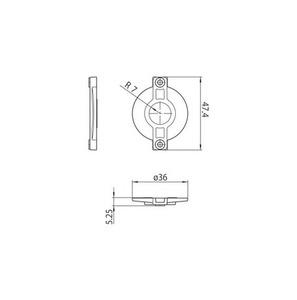 Capac de blocare S-9209-BD-xx, barele STUCCHI, policarbonat, alb, negru small 1