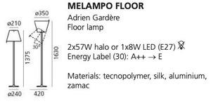 Lampa de podea Artemide MELAMPO maro natural small 1