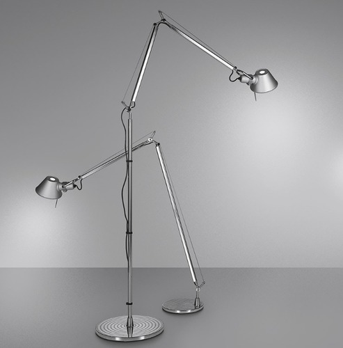 Lampa de podea Artemide Tolomeo Aluminium