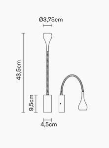 Lampă de perete FABBIAN Bijou WHITE D75D0101 small 1