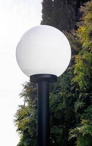 Lampă de grădină lampă de lună albă 20 cm E27 negru post 100 cm small 1