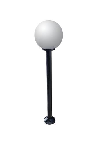 Lampă de grădină lampă lună albă 25 cm E27 stâlp negru 100 cm