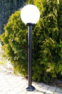 Lampă de grădină lampă lună albă 40 cm E27 stâlp negru 100 cm small 1