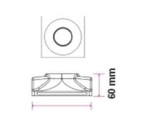 Binding Eye GIPS GU10 Incastrat Deep Square White small 5