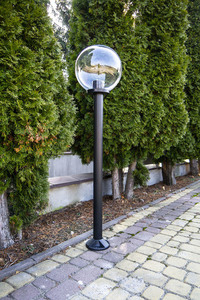 Lampa de grădină în picioare Lumină transparentă 25 cm E27 negru post 100 cm small 2