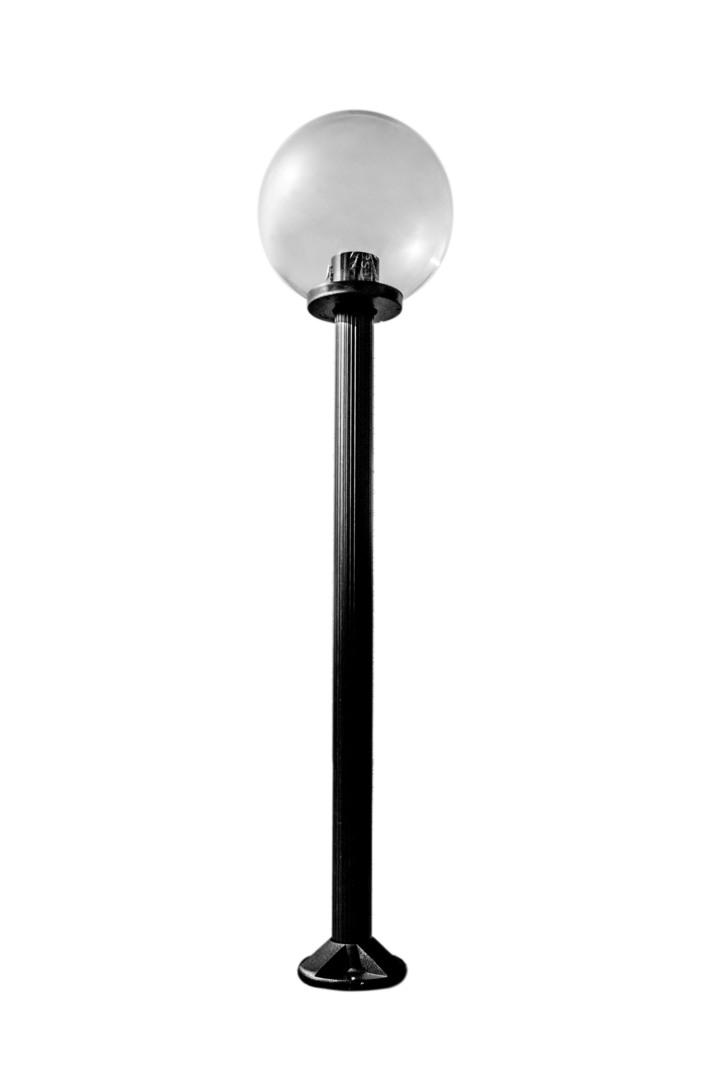 Lampa de grădină în picioare Lumină transparentă 25 cm E27 negru post 100 cm