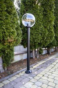 Lampă de grădină lampă de lună transparentă 30 cm E27 negru post 100 cm small 2