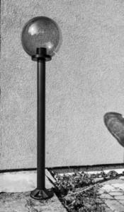 Lampa de grădină lampă de lună afumată 20 cm E27 negru post 100 cm small 4