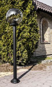 Lampă de grădină, lampă de lună afumată 50 cm E27 negru post 100 cm small 2