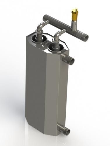 Cazan dublu cu inducție 5kW pentru încălzirea suprafeței de 100m² - 115m²