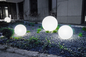 Ball Decorative White Gloss - Luna Ball 40 cm cu set de asamblare, cablu de 3m, post de fixare small 4