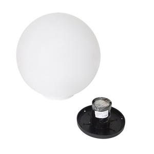 Ball Decorative White Gloss - Luna Ball 40 cm cu set de asamblare, cablu de 3m, post de fixare small 6